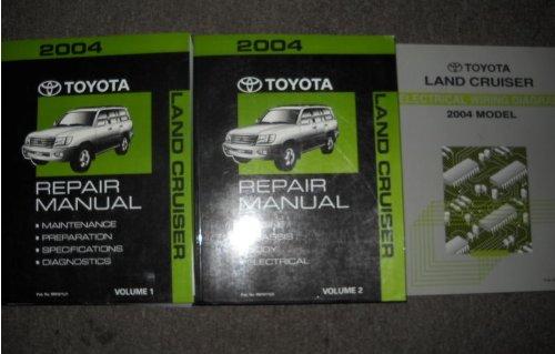 2004 Toyota Land Cruiser Service Repair Shop Manual Set  2 Volume Set  And The Wiring Diagrams